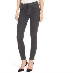 NWT Hudson high rise lace up bullocks jeans